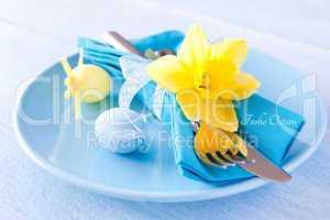 Gedeck zum Osterfest