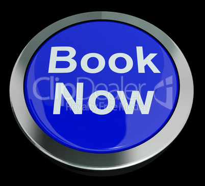 Blue Book Now Button For Hotel Or Flight Reservation