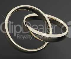 Silver Or White Gold Rings Representing Love Valentines And Roma