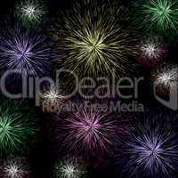 Exploding Firework Background As Holiday Or Independence Celebra