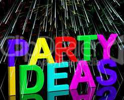 Party Ideas Words Showing Birthday Or Anniversary Celebration Su