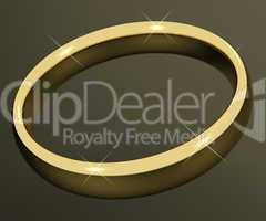 Gold Ring Representing Love Valentines And Romance