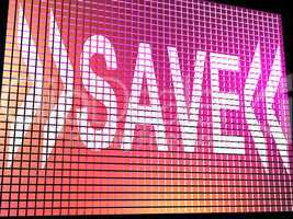 Save Monitor Showing Promotion Discount And Reduction Online