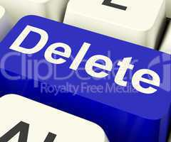 Delete Key In Blue To Erase Trash