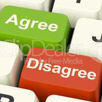 Disagree And Agree Keys For Online Poll Or Voting