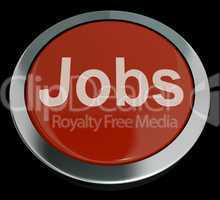 Jobs Computer Button In Red Showing Work And Careers
