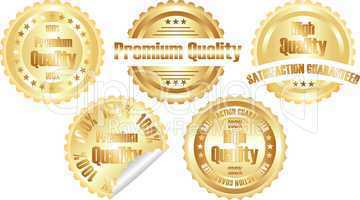 gold  premium quality label