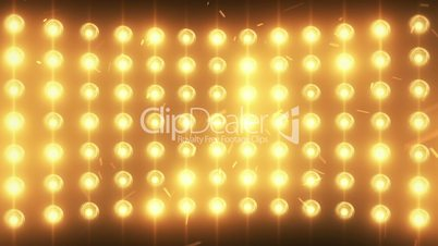 Bright flood lights background with particles and glow
