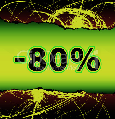 Discount eighty percent off