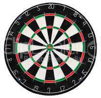 Target for darts on the white background
