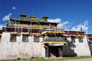 Historic lamasery in Tibet