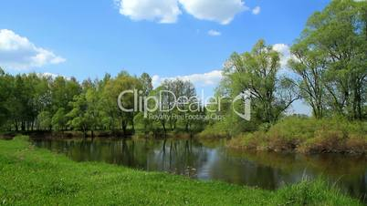 spring landscape of small rivers.