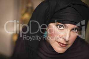 Beautiful Islamic Woman Wearing Traditional Burqa or Niqab