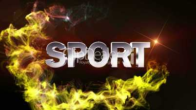SPORT Text in Particle (Double Version) - HD1080