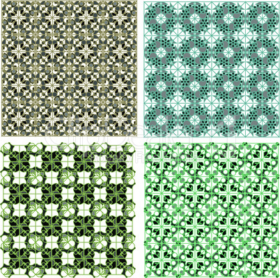 Set of stylish seamless geometrical backgrounds pattern. vector