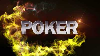 POKER Text in Particle (Double Version) - HD1080