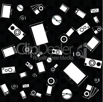 seamless electronics and digital media set wallpaper