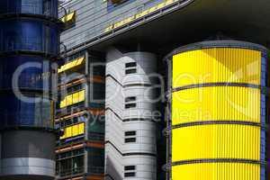 Detailansicht der Modernen Architektur am Potsdamer Platz in Berlin