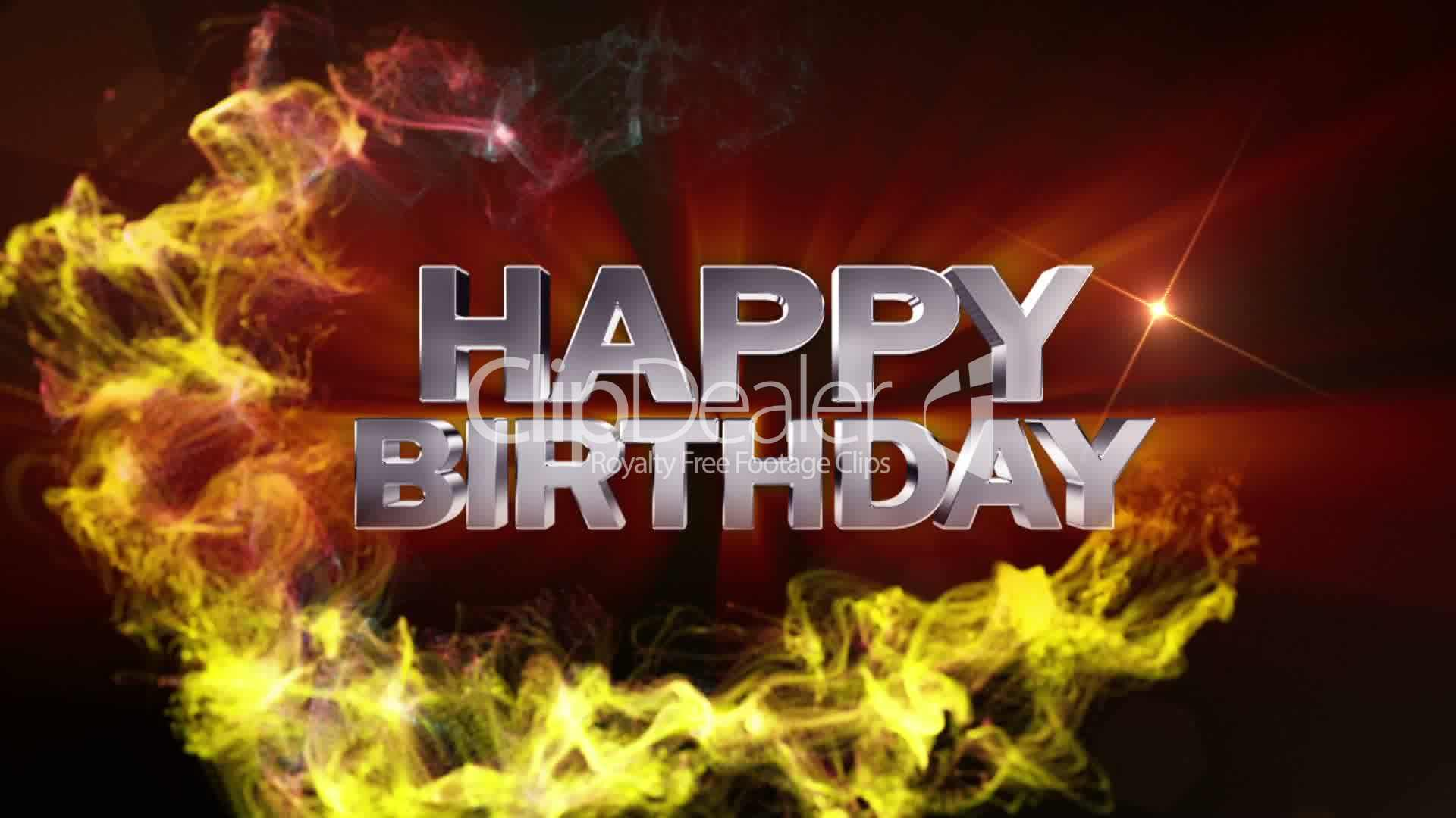 Happy Birthday Text In Particle Double Version Hd1080