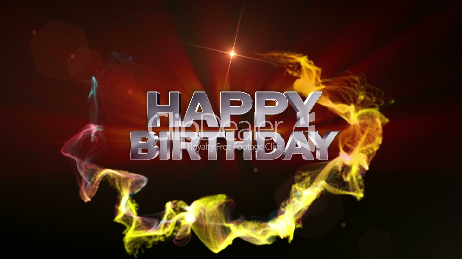 HAPPY BIRTHDAY Text In Particle (Double Version)