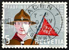 Postage stamp Switzerland 1963 Boy Scout