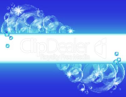 Blue bubble vector background