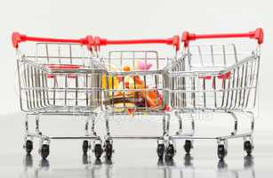 Shopping Cart with Food