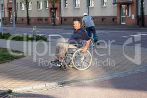 Cyclists and wheelchair users