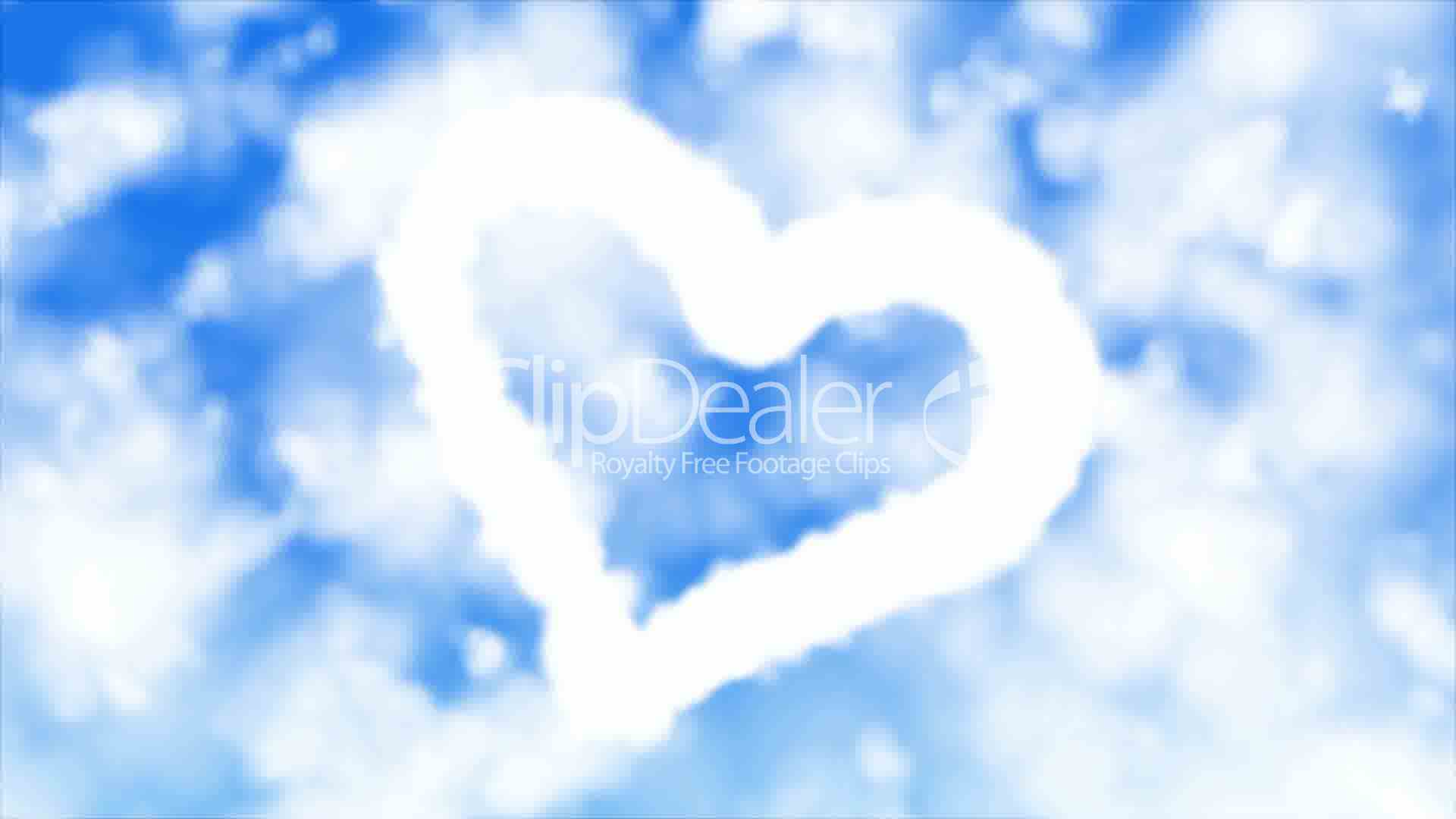 heart in clouds: royalty-free video and stock footage