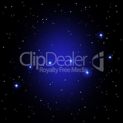 vector constellation of Big Dipper