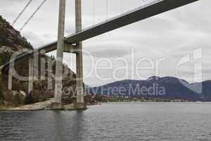 bridge over fjord - landscape in norway