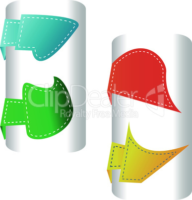 stylized colorful labels and badges set - vector