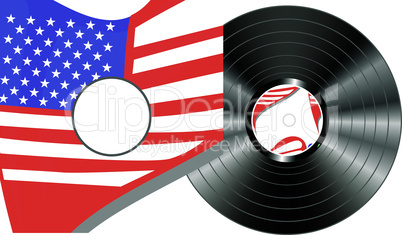 vinyl bubbles in usa flag cover - vector