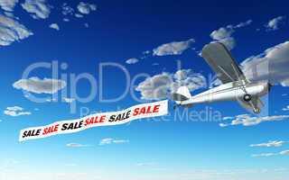 Flugzeug Banner - SALE SALE SALE