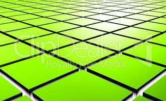 3D Struktur - Grüne Quader