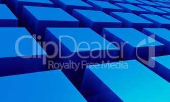 3D Struktur - Blaue Quader 3