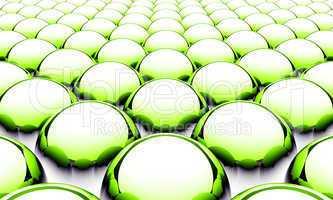 3D Ball Muster Grün Schwarz Weiß