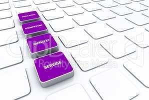 Quader Konzept Violett - Beratung Kompetenz Qualität Service 5