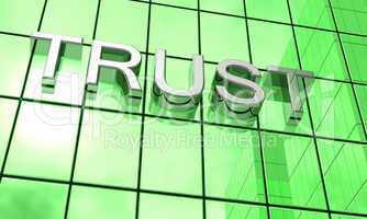 Spiegelfassade Grün - Trust Konzept