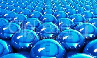 Blue reflection balls background