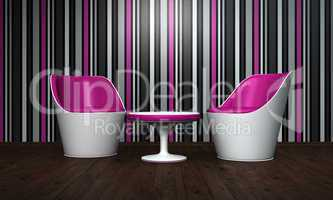 Relax Lounge pink black white