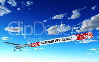 Flugzeug Werbung - Summer Special!