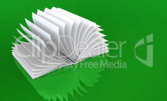 White Book on green