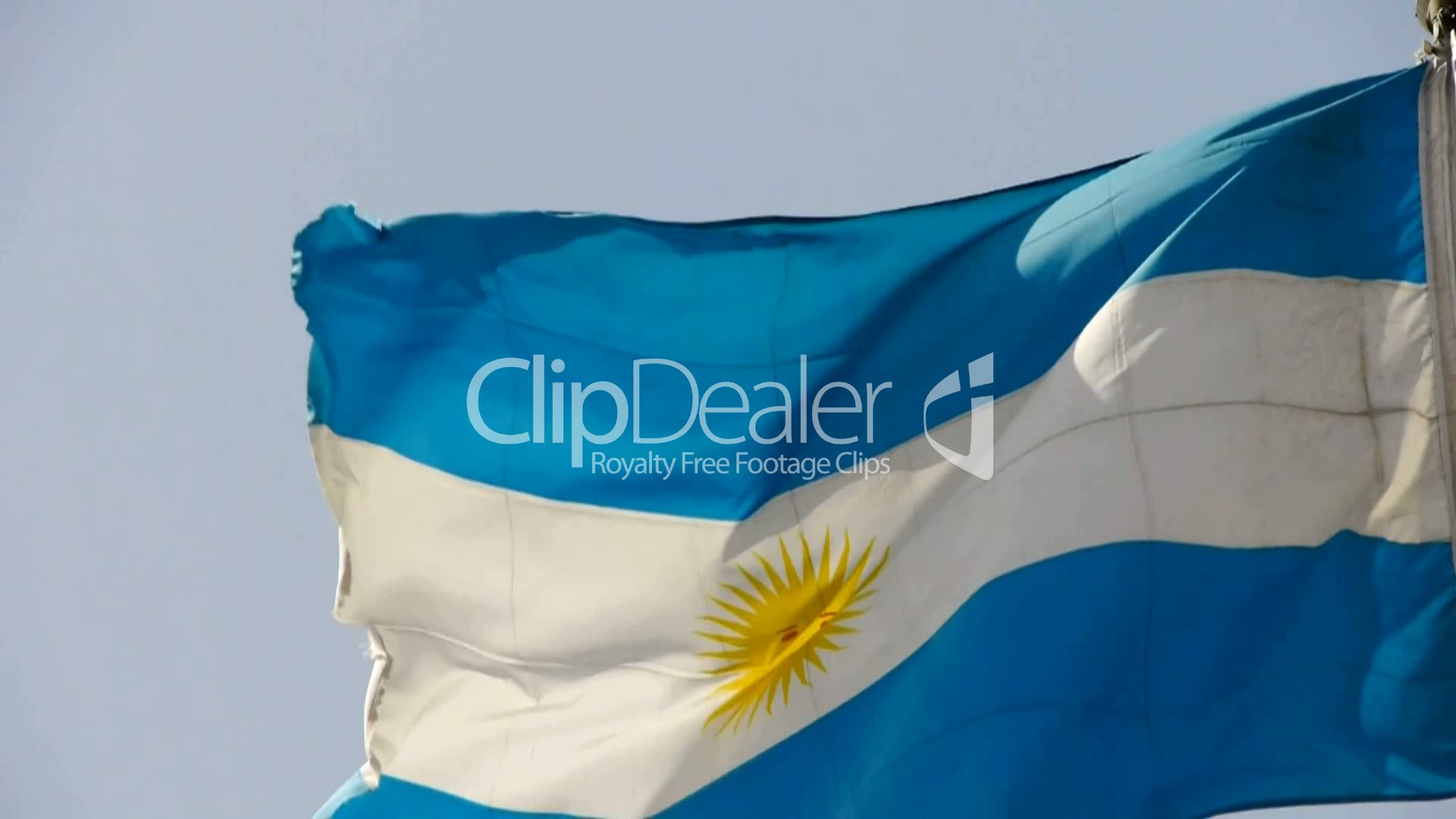 Argentina Flag Is Fluttering In Wind Royalty Free Video And Stock