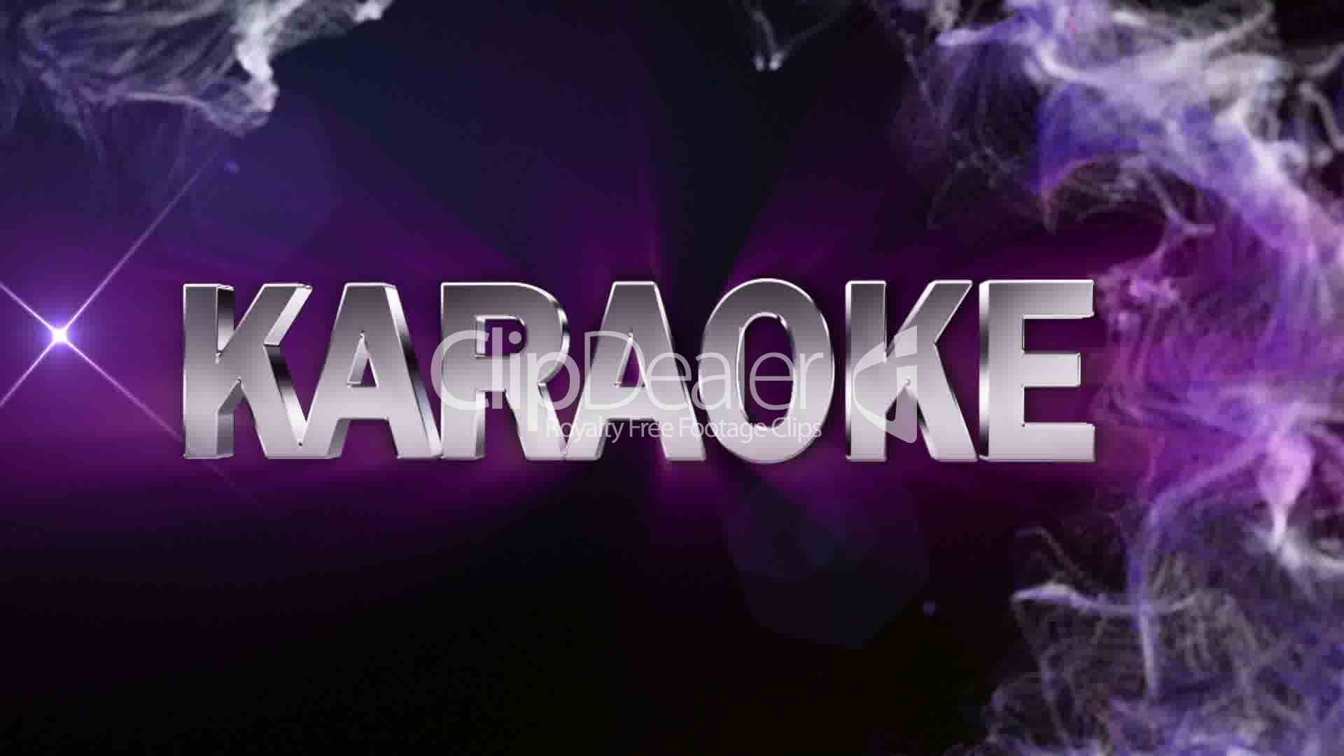 Karaoke Text In Particle Double Version Blue Hd1080