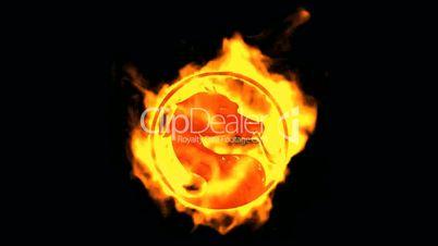 fire dragon symbol.