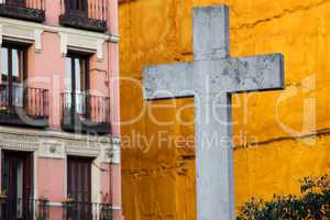 Cross in the City of Madrid