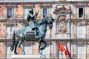 Statue of King Philip III at Plaza Mayor