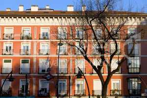 Tenement House Facade in Madrid