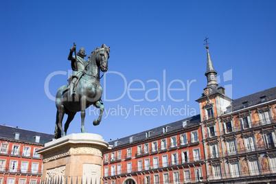Statue of King Philip III at Plaza Mayor